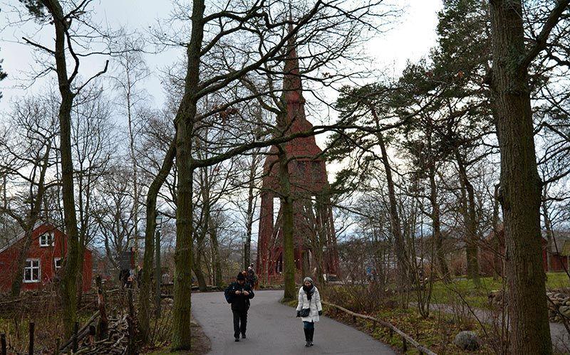 Escuela y campanario de Skansen