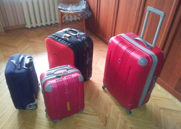 Nuestro equipaje para 2 días en Moscú