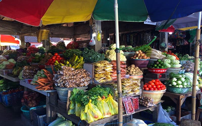 Mercado de verduras Bali