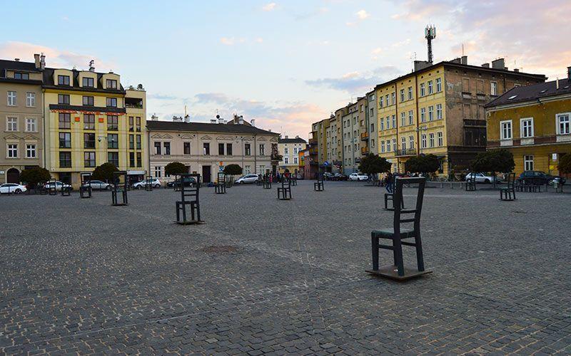 Plaza de los héroes del guetto Cracovia
