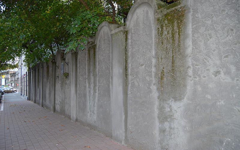Restos del muro del Guetto de Cracovia