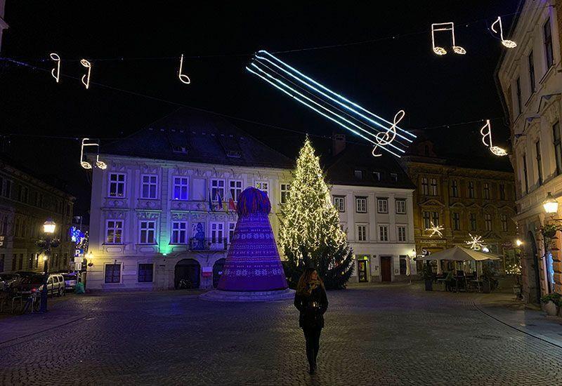 Liubliana en Navidad
