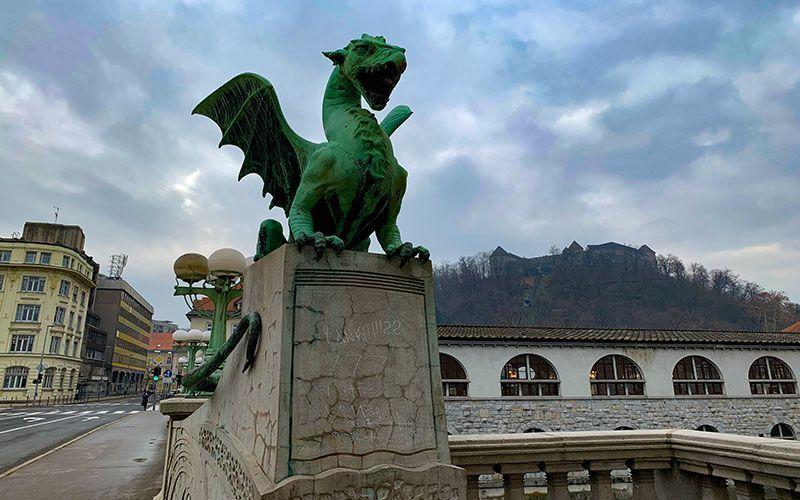 Puente del dragón Liubliana