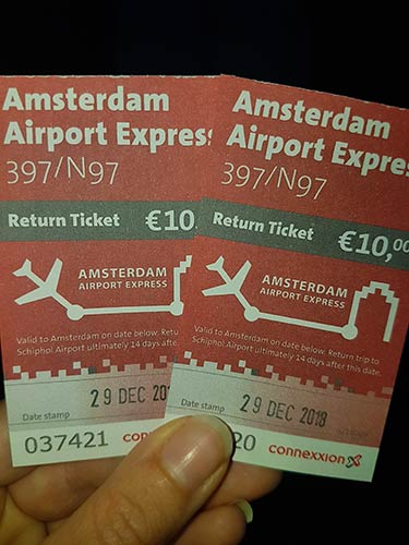 Tickets Amsterdam Airport Expres