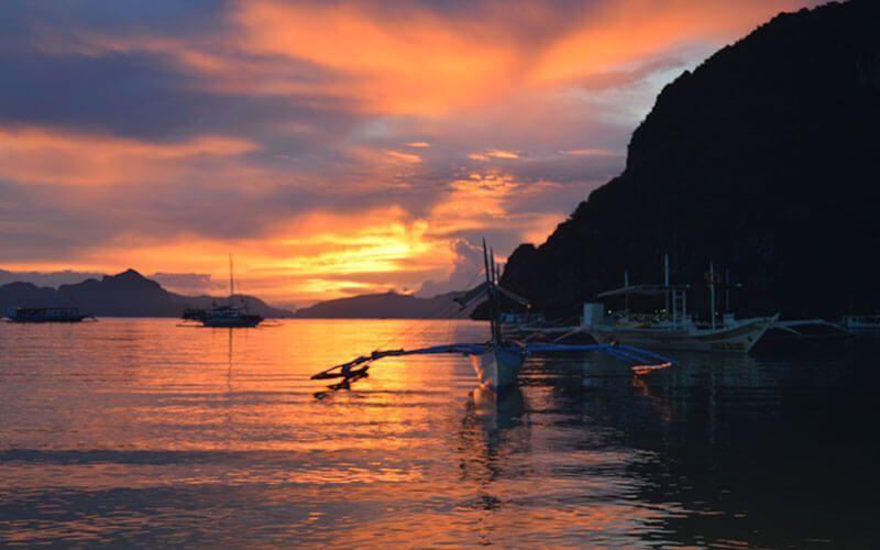 Puesta de sol en Palawan