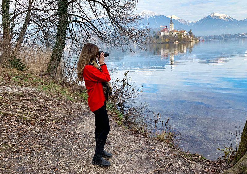 Vistas al lago de Bled