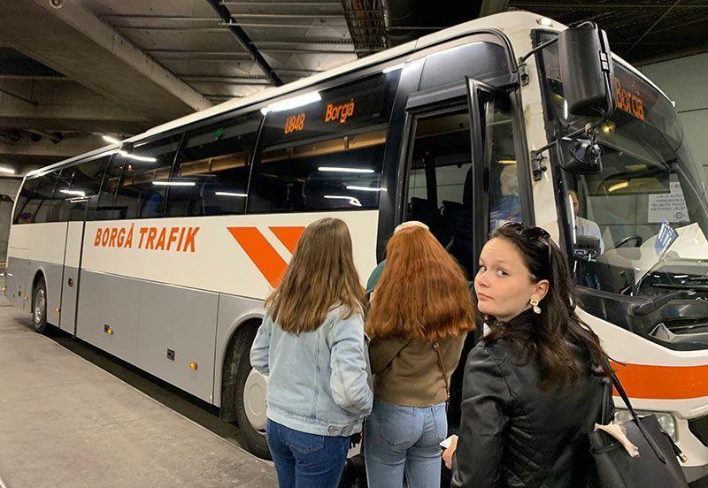 Bus Helsinki-Porvoo