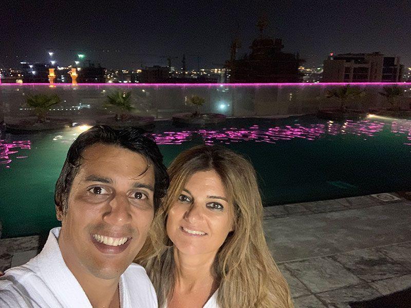 Infinity pool de nuestro hotel en Dubai