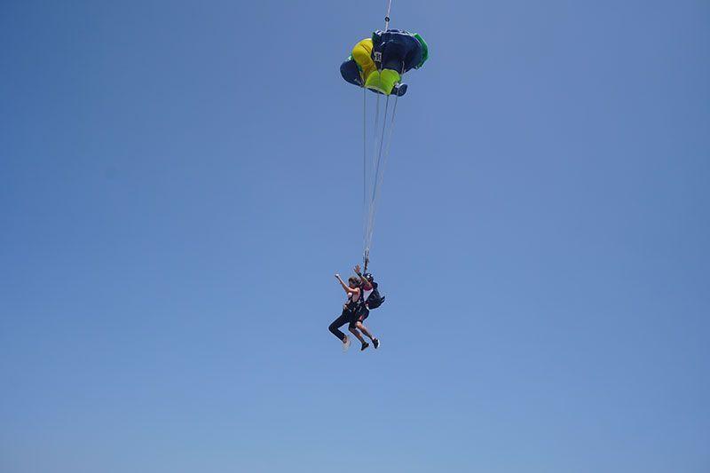 Skydive sobre la isla de la Palmera