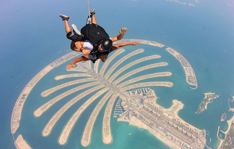 Skydive Dubai: cómo hacer paracaidismo sobre la isla de la palmera