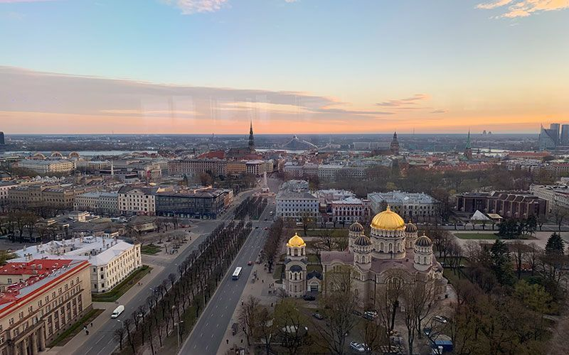 Vistas de la capital letona