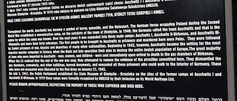 Historia del campo de concentraciòn de Auschwitz