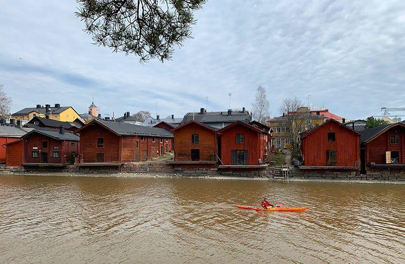 Kayak en el río Porvoonjoki