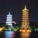 que ver en Guilin Pagoda del sol y la luna