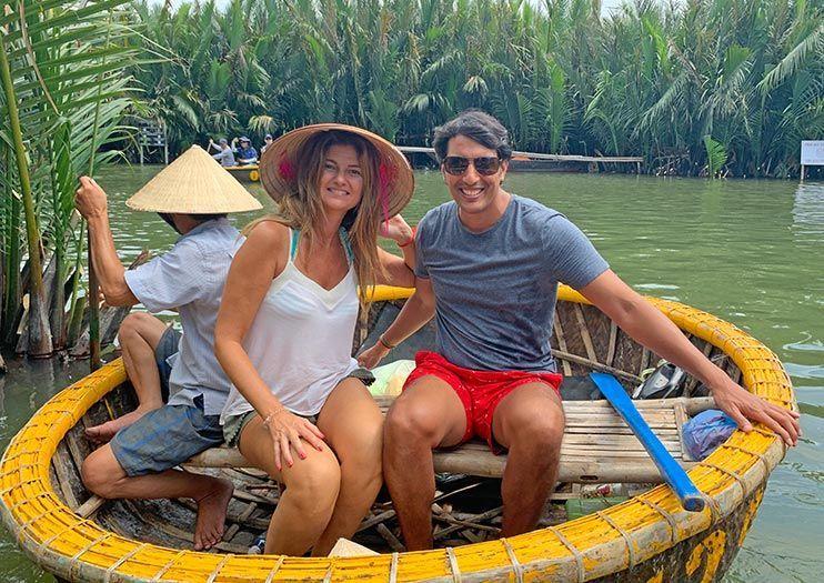 viajar a vietnam por libre Hoi An Basket Boat