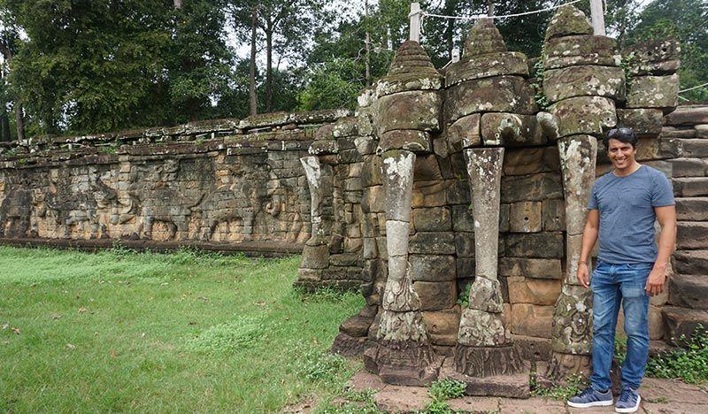Templos de Angkor Terraza de los elefantes Camboya