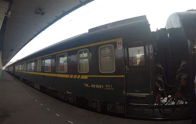 Tren regular en China