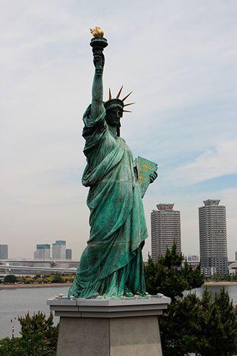 Estatua de la libertad Odaiba tokio