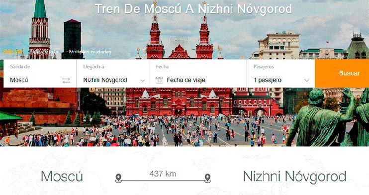como llegar a Nizhni Nóvgorod