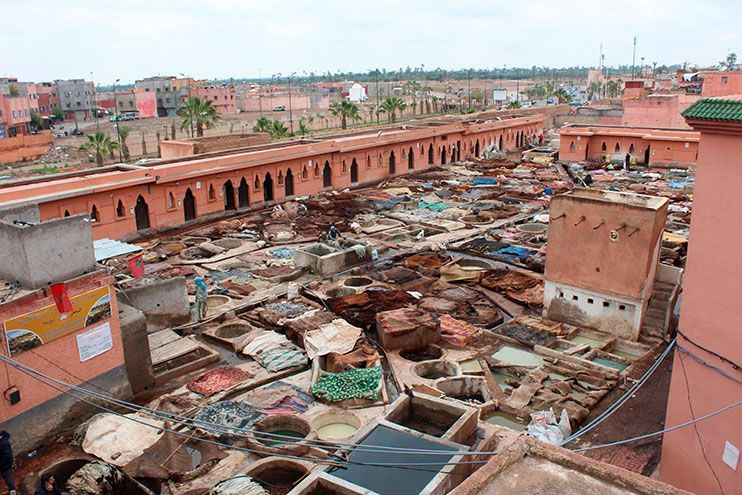 Barrio de los curtidores Marrakech