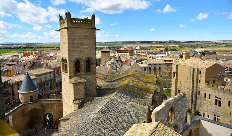 vistas a olite desde el castillo