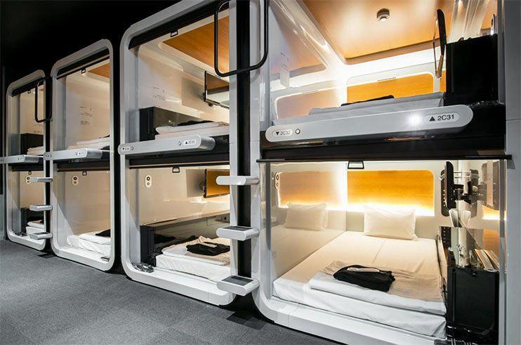 Hoteles capsula en Tokio