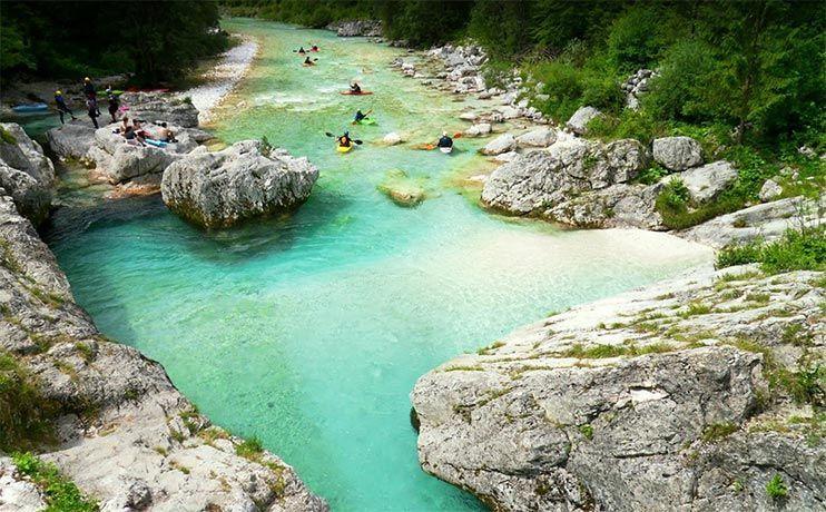 que ver en Eslovenia valle de soca